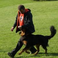 Basti beim Fußlaufen mit Rüdiger